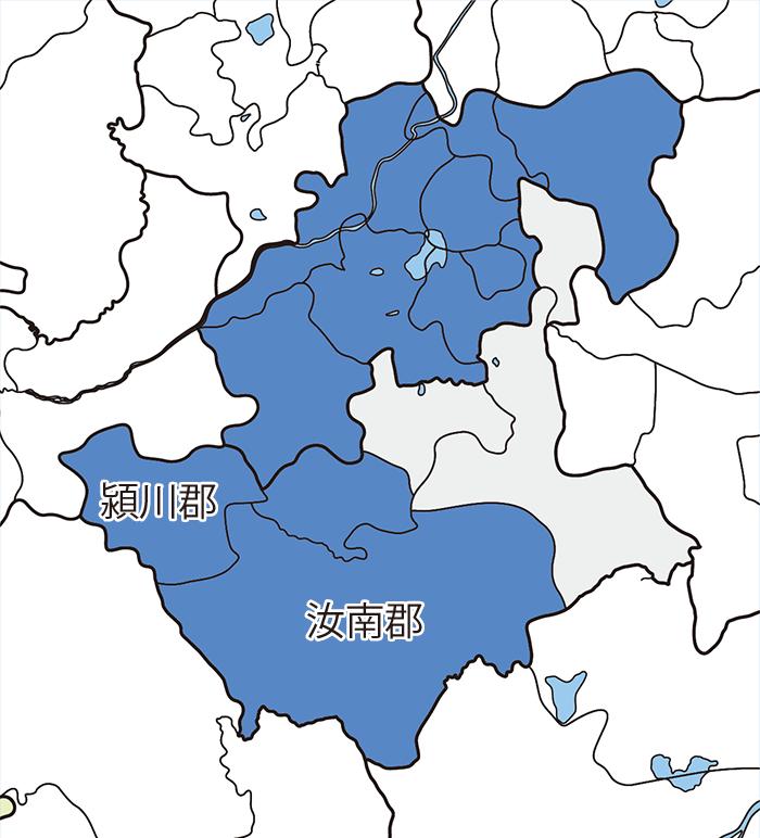 豫州(予州)・汝南郡と潁川郡