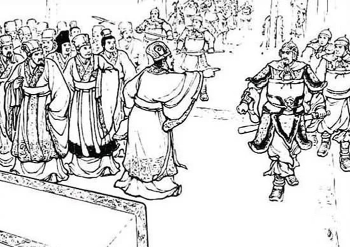 郭汜が公卿たちを捕虜にする