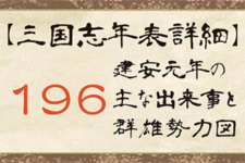 【三国志年表詳細】196年の主な出来事と群雄勢力図