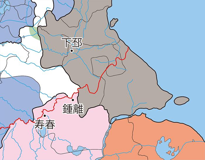 寿春県と鍾離国