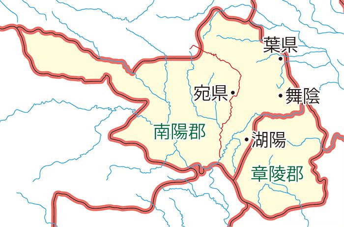 曹操の南征関連地図