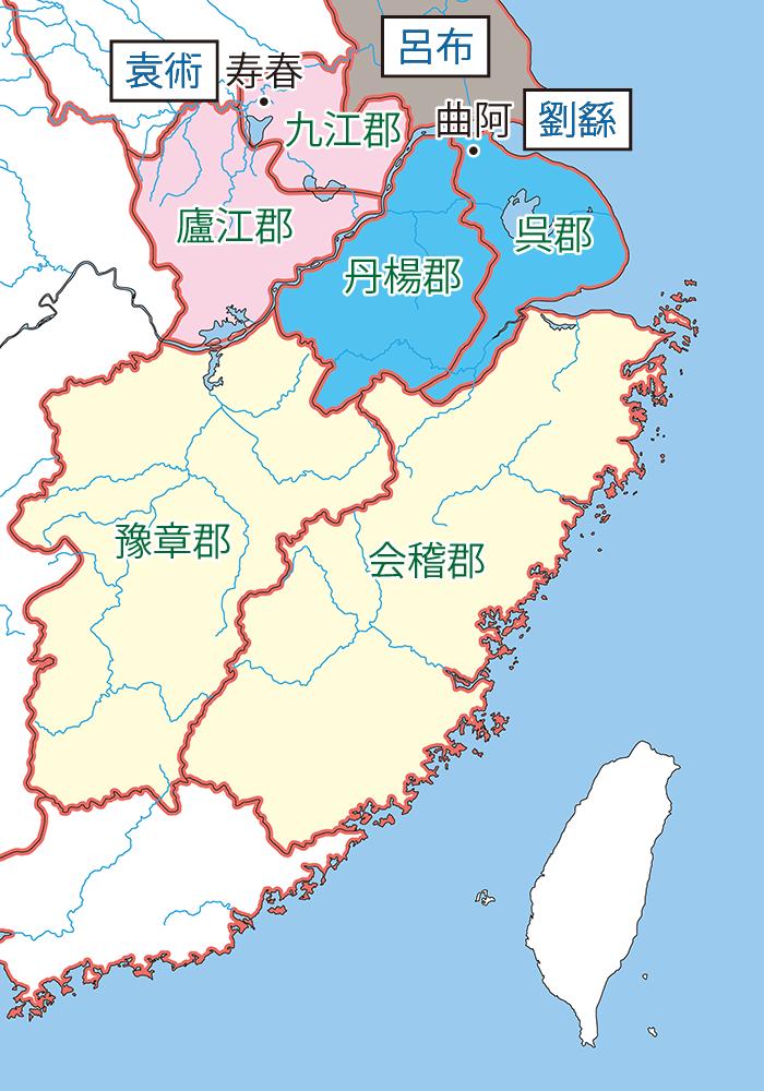 揚州関連地図