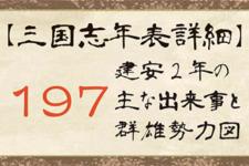 【三国志年表詳細】197年の主な出来事と群雄勢力図
