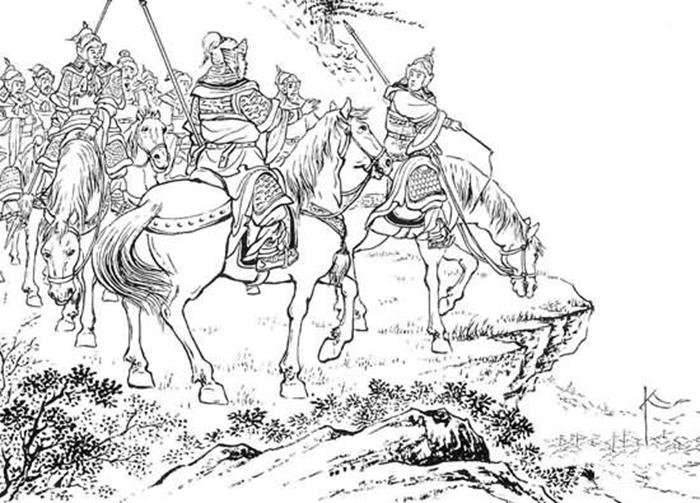 孫策と劉繇が対峙する