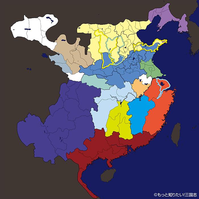 劉備の徐州入り後の勢力図