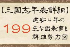 【三国志年表詳細】199年の主な出来事と群雄勢力図