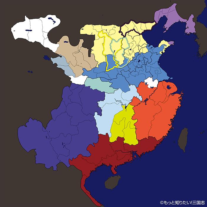 建安5年(200年)4月の群雄勢力図